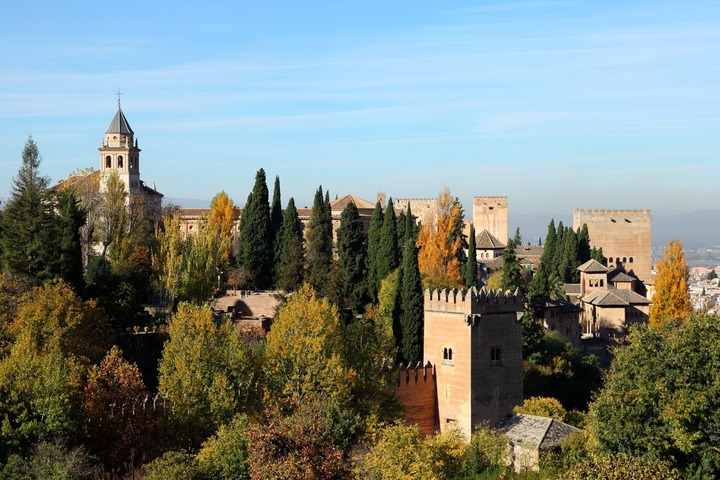 L'Alhambra, vue à partir du Generalife