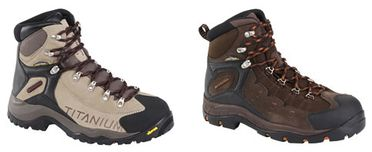deux modèles de chaussures de randonnées Columbia, Ocanto Peak et Titatium Daska Pass