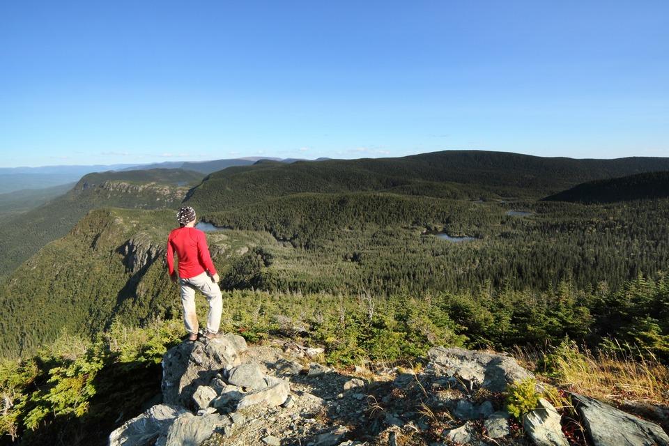 Vue sur les monts Chics Chocs, Gaspésie, Québec, septembre 2012