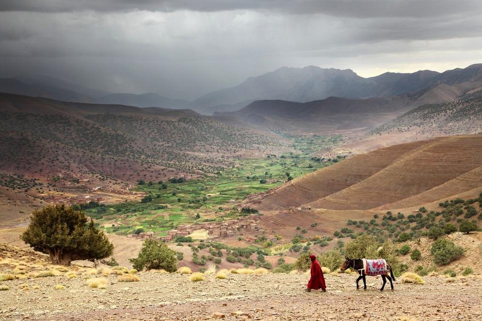La haute vallée des Ait Bouguemez, Haut Atlas, octobre 2012