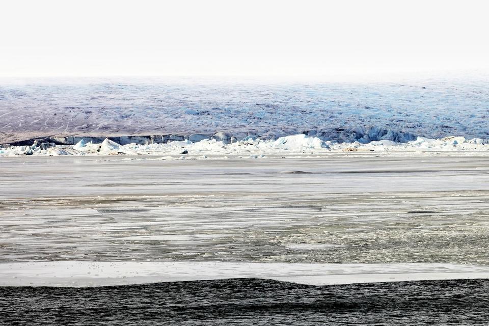 Le magnifique Jokulsarlon et le front du glacier, Islande, mars 2012