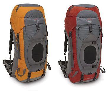 Les sac à dos Argon et Xenon de la marque Osprey sont destinés au portage de charge importante avec confort