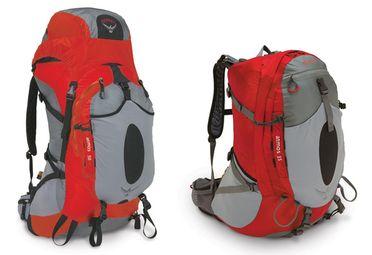 Les sac à dos Osprey Atmos 35l et 50l sont des sac à dos légers et très confortables grâce à leur système de filet tendu