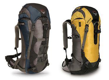 La gamme Osprey d'alpinisme, les sac à dos Exposure.