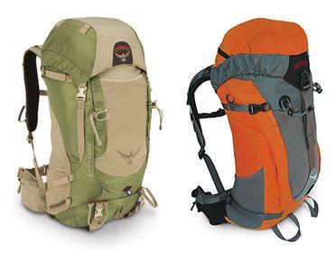 Les sac à dos Osprey Kestrel 38 litres et Stratos 32l