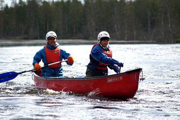 Canoë en Laponie
