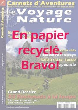 Carnets d'aventures sur Papier recyclé