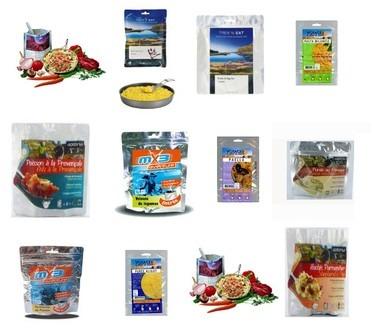Aliments lyophilisés exemple