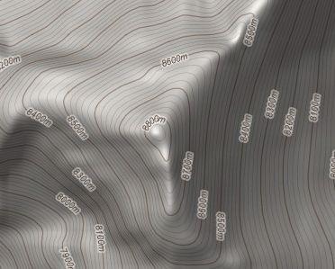 Courbes de niveau sur Google Maps