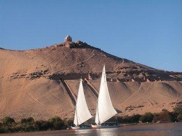 En felouque sur le Nil