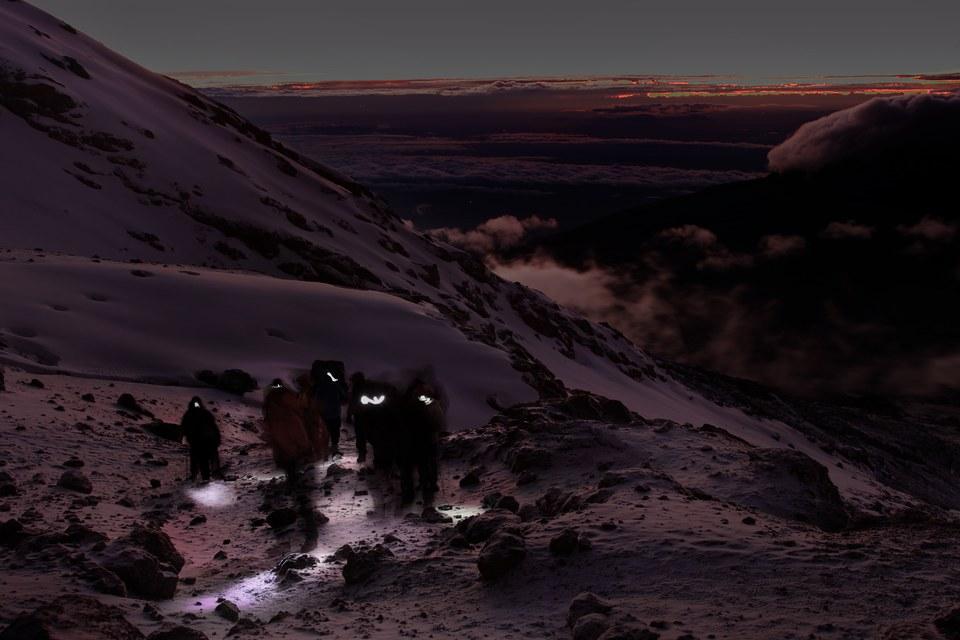 La montée finale du Kilimandjaro