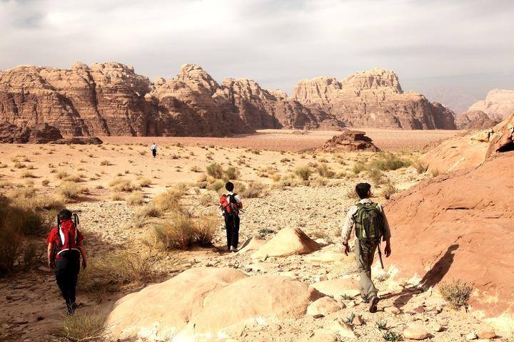 Randonnée dans le Wadi Rum