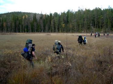 Randonnée en Laponie : Automne