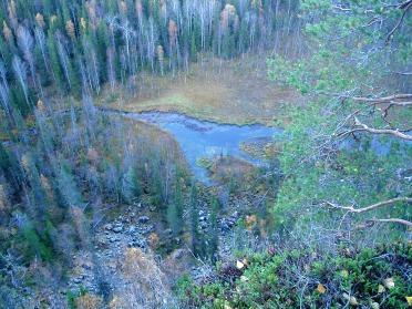 Une journée de randonnée pendant la période du Ruska en Laponie