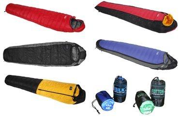 Sacs de couchage RAB, 5 modèles présentés