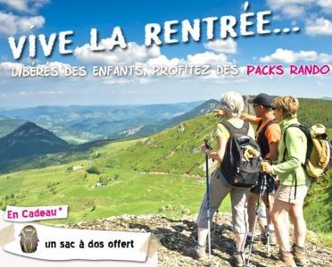 Vive la rentrée : pack-rando exclusifs en Haute-Loire